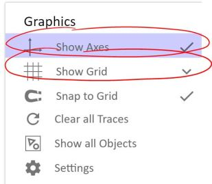 settings on graph 2