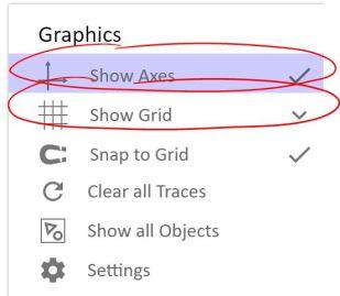 settings on graph 2